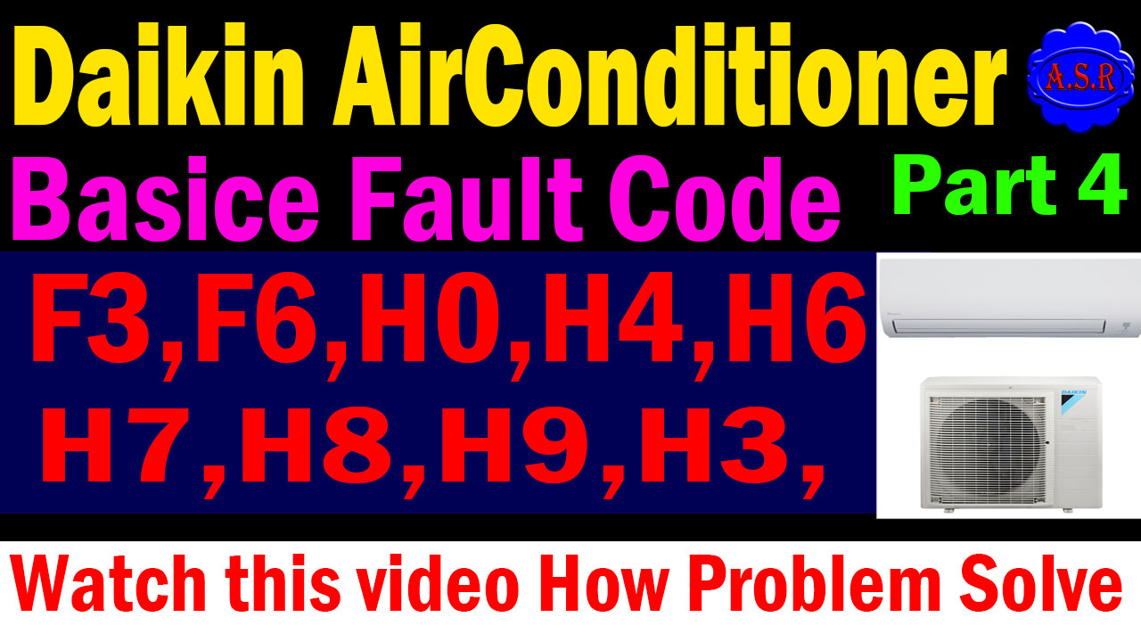 asr service center and asr help center: Daikin ac error code