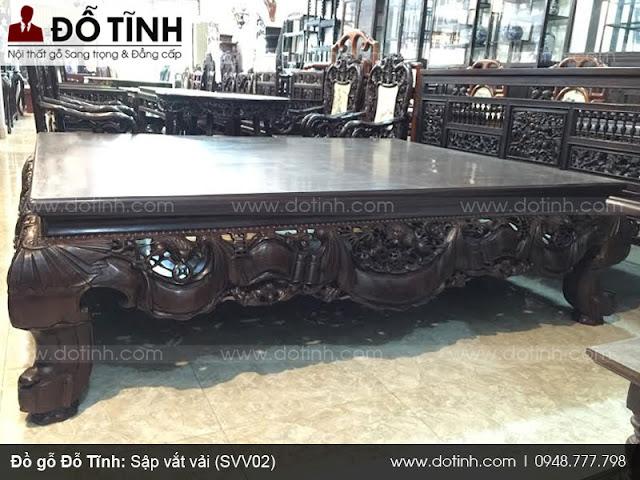 Sập vắt vải - Mẫu sập gỗ cao cấp đẹp tại Đỗ Tĩnh