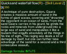 naruto castle defense 6.2 Quicksand waterfall flow detail
