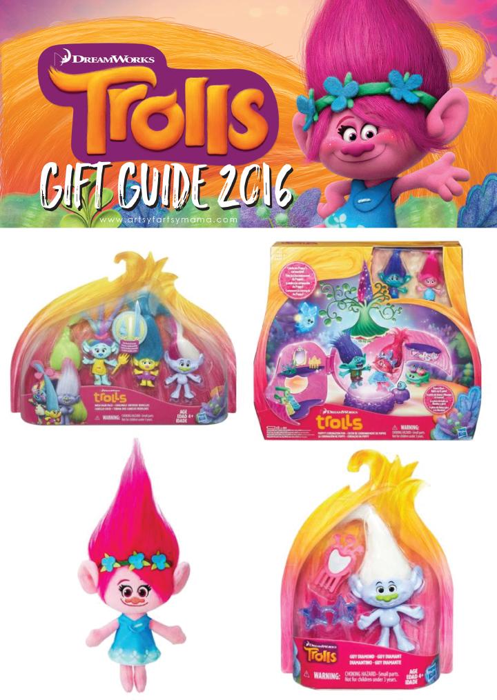 DreamWorks Trolls Gift Guide 2016 at artsyfartsymama.com