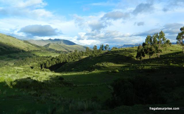 Ruínas incas de Puka-Pukará, nos arredores de Cusco