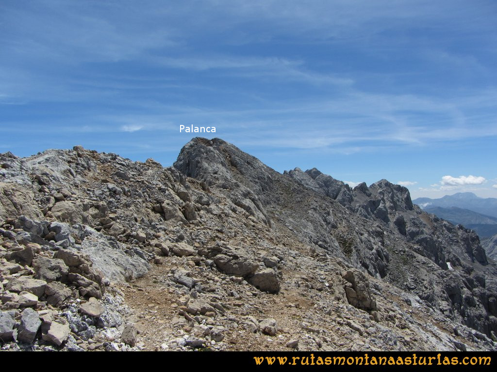 Ruta el Cable, Padiorna, Collado Jermoso, Palanca, Fuente De: Tramo final a la cima de la Palanca