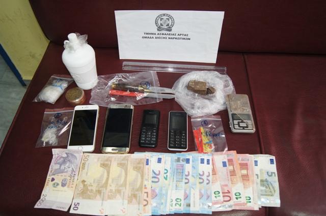 Συνελήφθησαν δύο άτομα για διακίνηση, αποθήκευση και κατοχή ναρκωτικών ουσιών