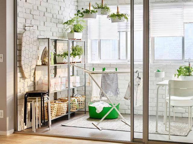 balcón con cuarto de colada