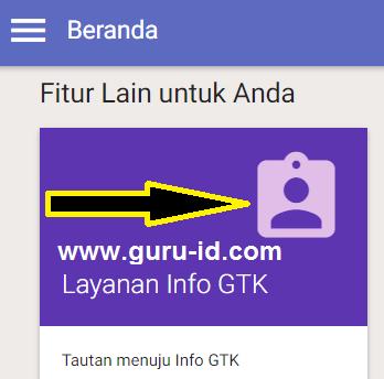 gambar cek info gtk di laman sim pkb