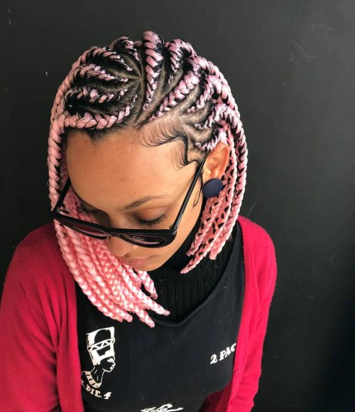 24+ Stunning Ghana Braids Hairstyles For Black Women Right Now