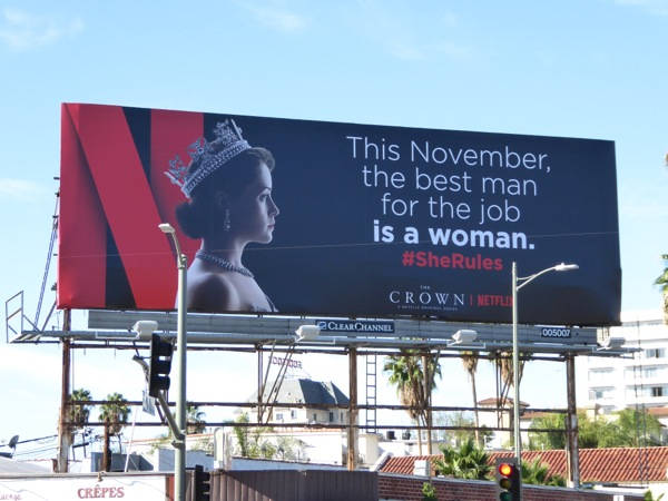 best man for the job woman Crown billboard