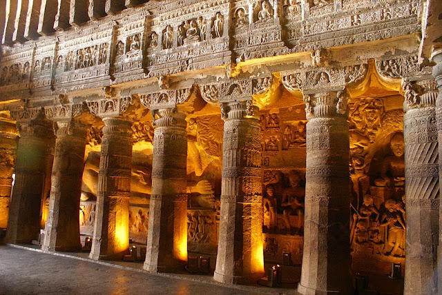 Reclining Buddha - Ajanta caves - Ancient Buddhist Monestry - Maharashtra India -  - Pick, Pack, Go