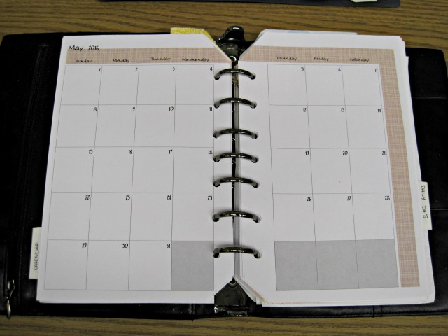 Month on two pages printable planner calendar