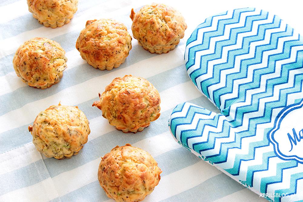 przepis na muffiny z cukinią