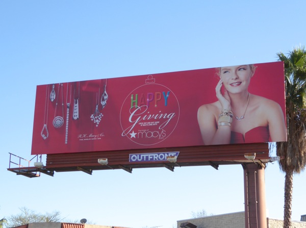 Happy Giving Macys jewelry billboard