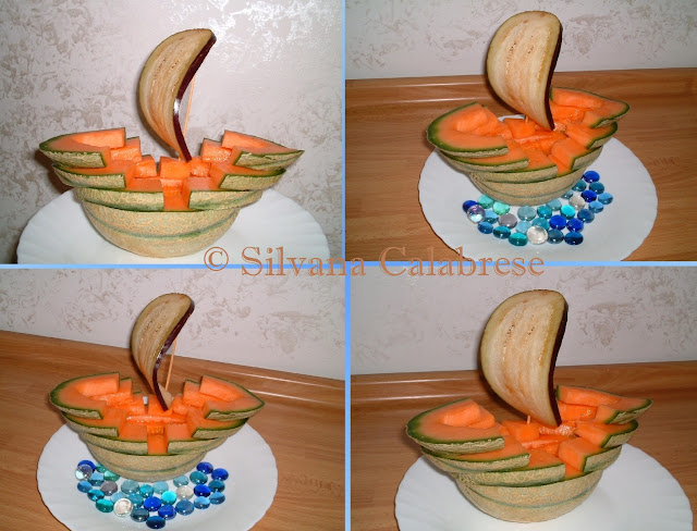 Carvings sailing ship with melon Loving San Francisco