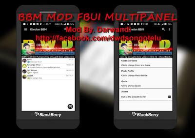 BBM MOD FBUI Multipanel v3.0.0.18 APK Terbaru 2016