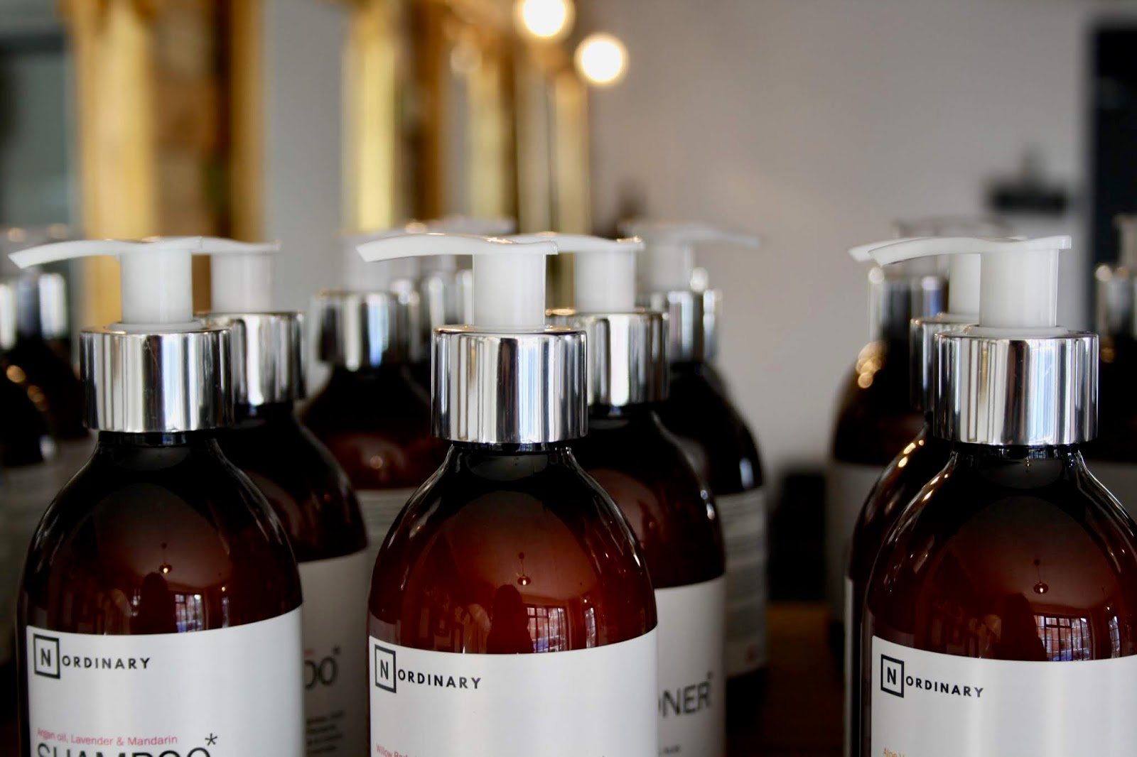 shampoo and conditioner bottles from Gavin Taylor Hair's No Ordinary product range