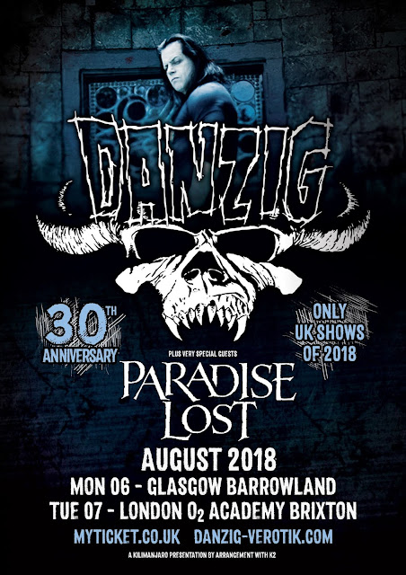 Danzig and Paradise Lost gig poster