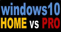 Perbedaan windows 10 edisi home dan pro