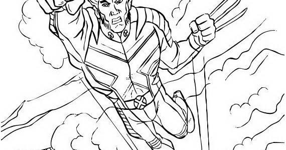 Wolverine Para Colorear Y Pintar