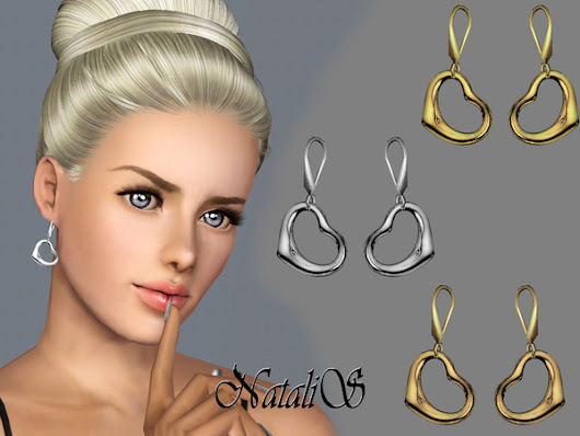 S3 Heart drop earrings FT-FA by NataliS