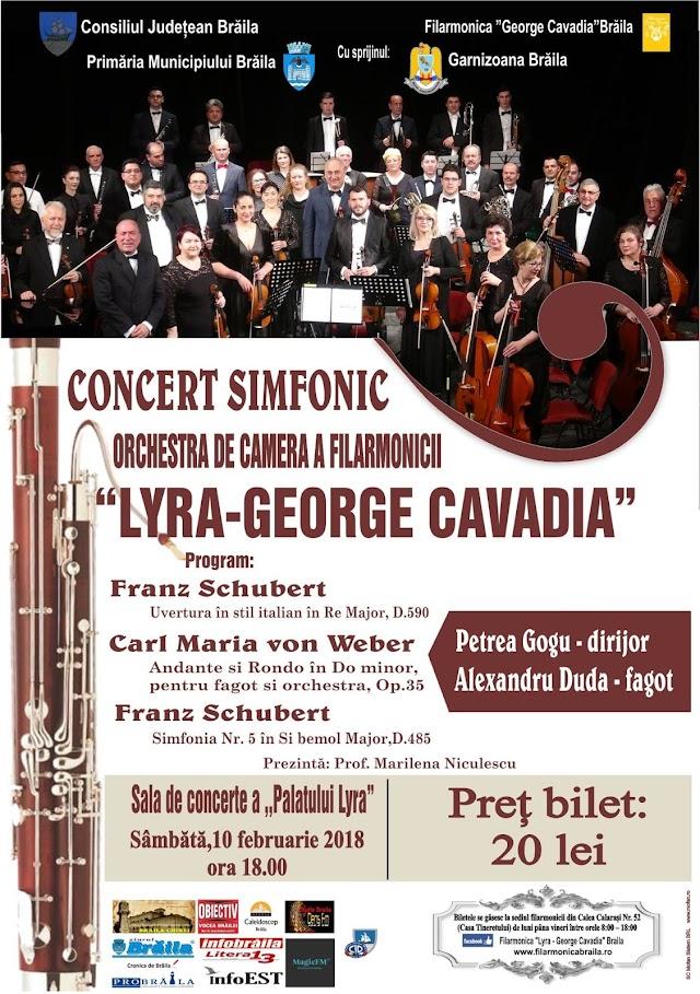 "Concert excepțional organizat de Filarmonica  ""Lyra - George Cavadia"""