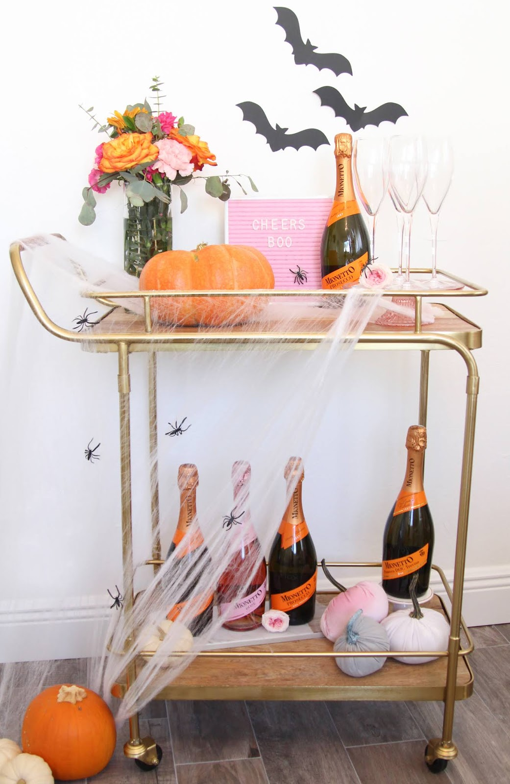 How to Style a Halloween Bar Cart by The Celebration Stylist