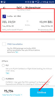 for Online Flight Ticket Booking now verify the flight date and time