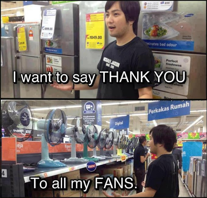 THANK YOU ALL MY FANS!