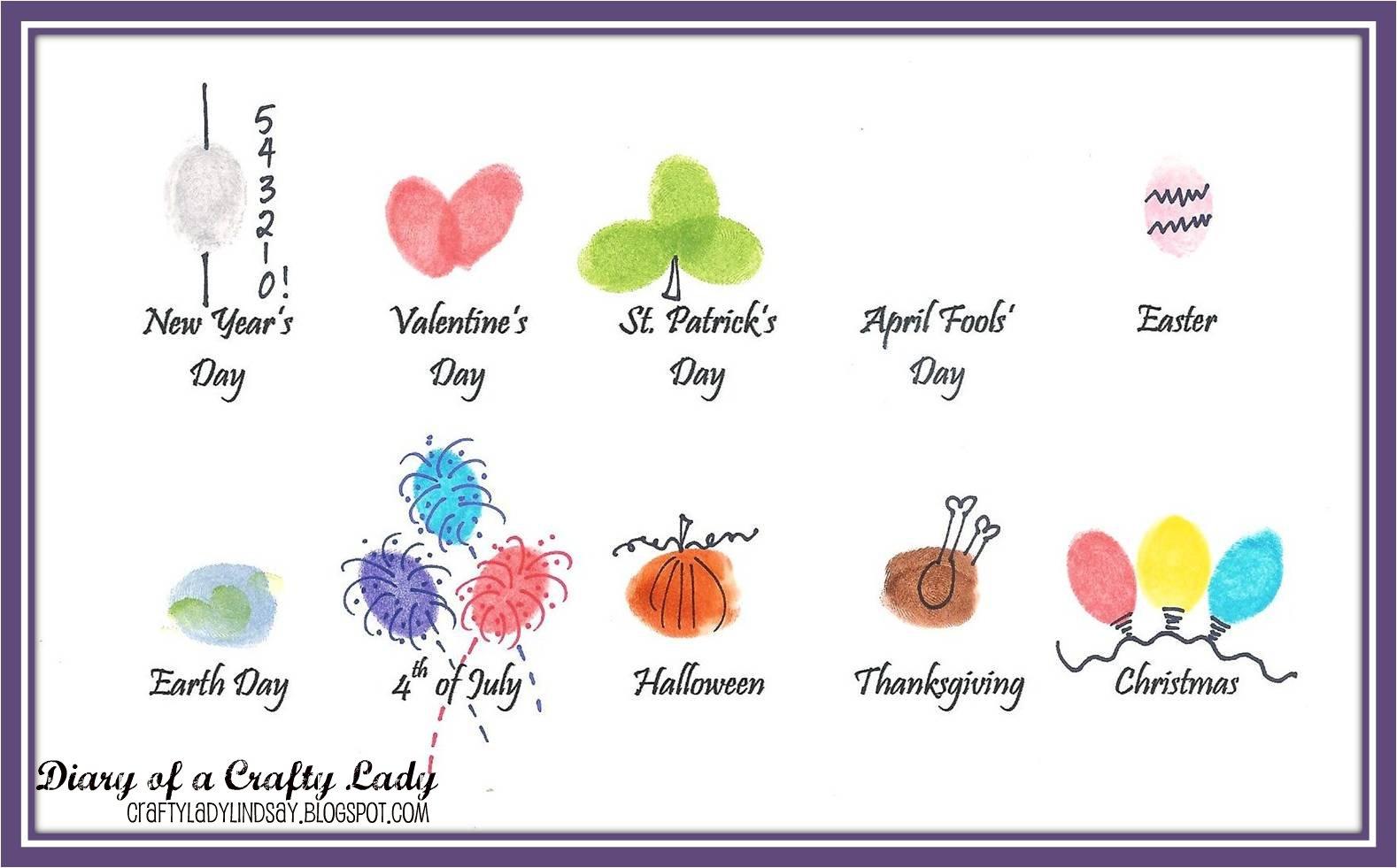 Diary Of A Crafty Lady Holidays Thumbprint Art