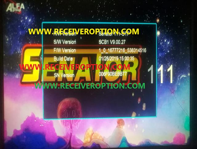 SENATOR 111 HD RECEIVER POWERVU KEY NEW FIRMWARE