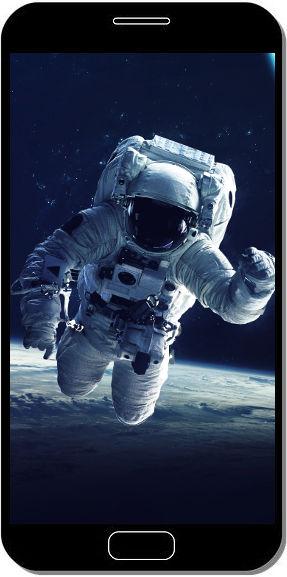Astronaute dans l'Espace - Fond d'Écran en QHD pour Mobile