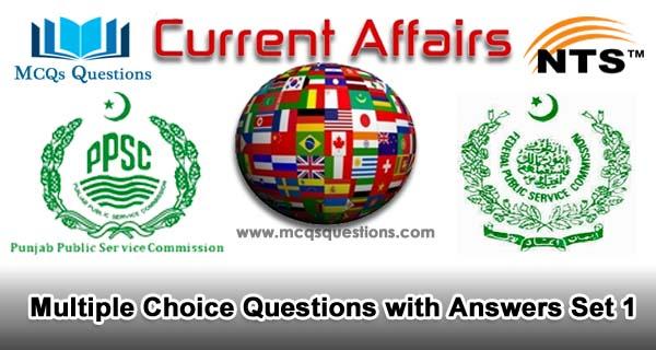Current Affairs MCQs Set 1