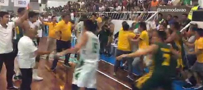 DLSU-FEU game in Davao ends in BRAWL (VIDEO)