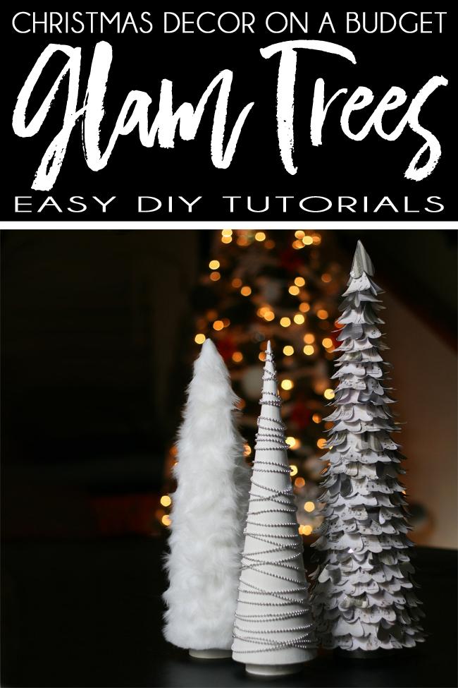 Glam White DIY Christmas Decorations