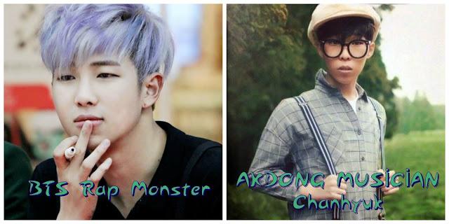 Aynı gün doğan idoller rap monster chanhyuk