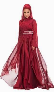 Contoh Baju Gaun Muslim Untuk Pesta Modern Terbaru