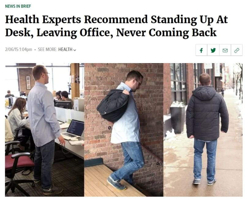 Prime Health Experts Recommend Standing Up At Desk Leaving Office Download Free Architecture Designs Scobabritishbridgeorg