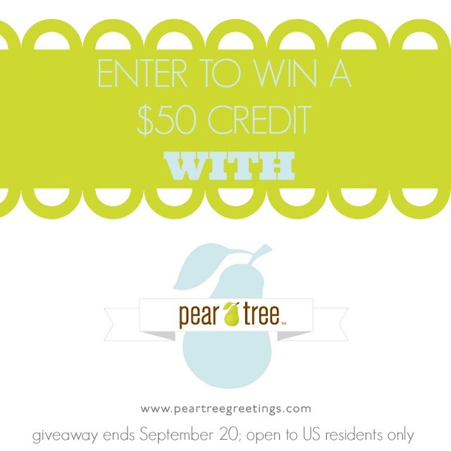 Enter to win a $50 @PearTreeGreet credit; ends 9/27