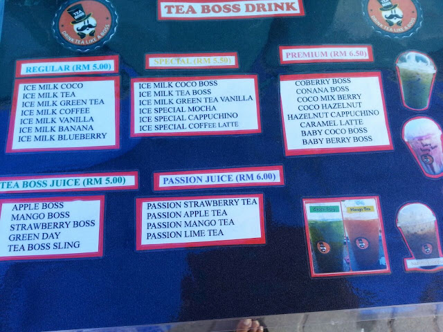 menu minuman tea boss perlis,