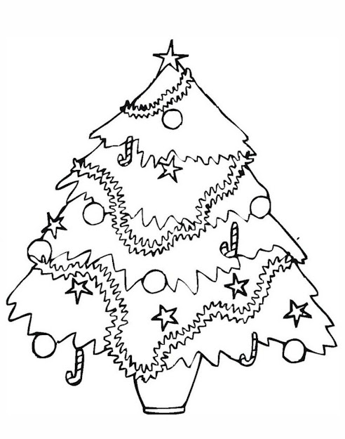 Beautiful Christmas Tree Coloring Pages For Kids Printable