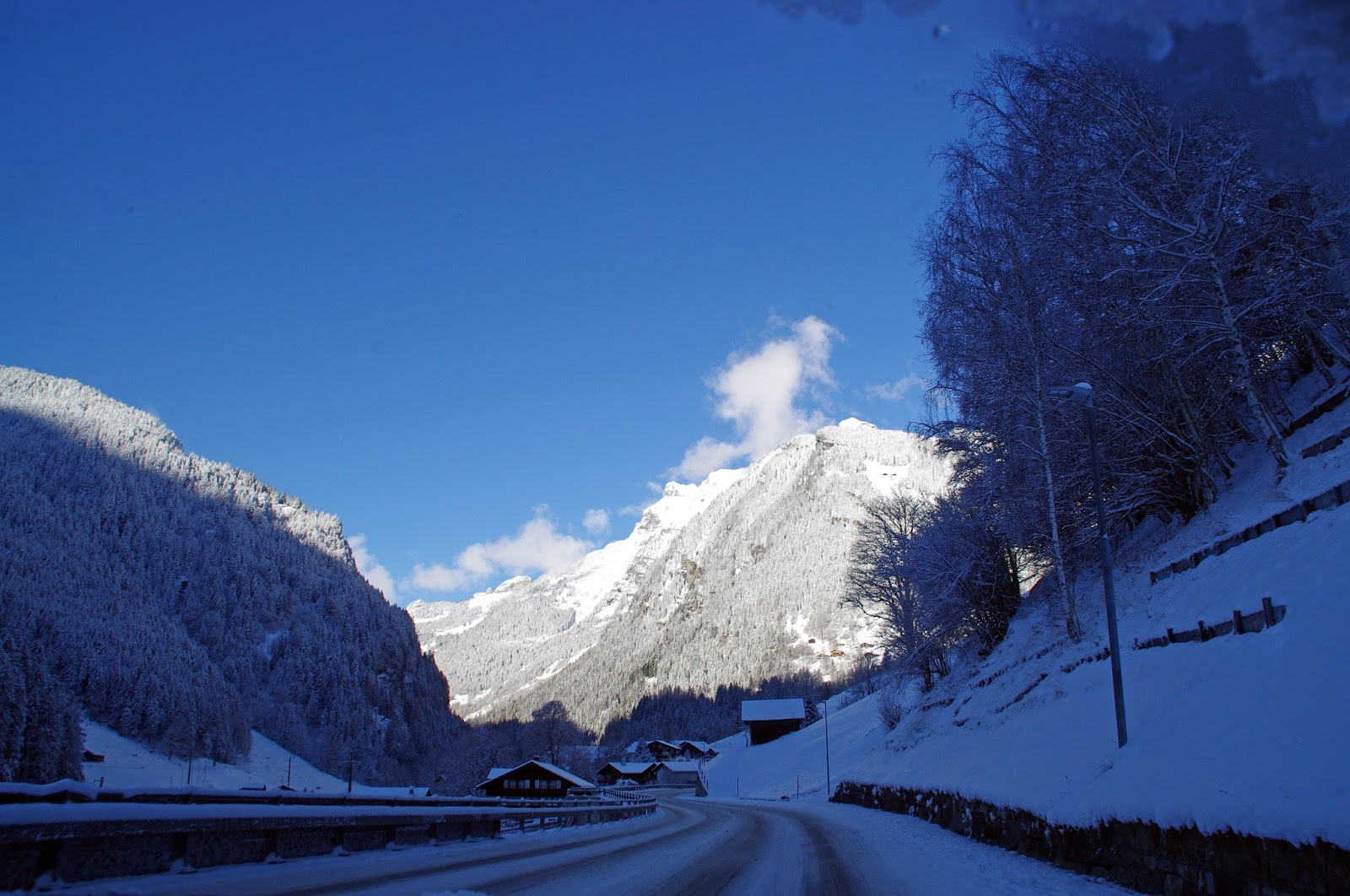 Driving Switzerland Winter