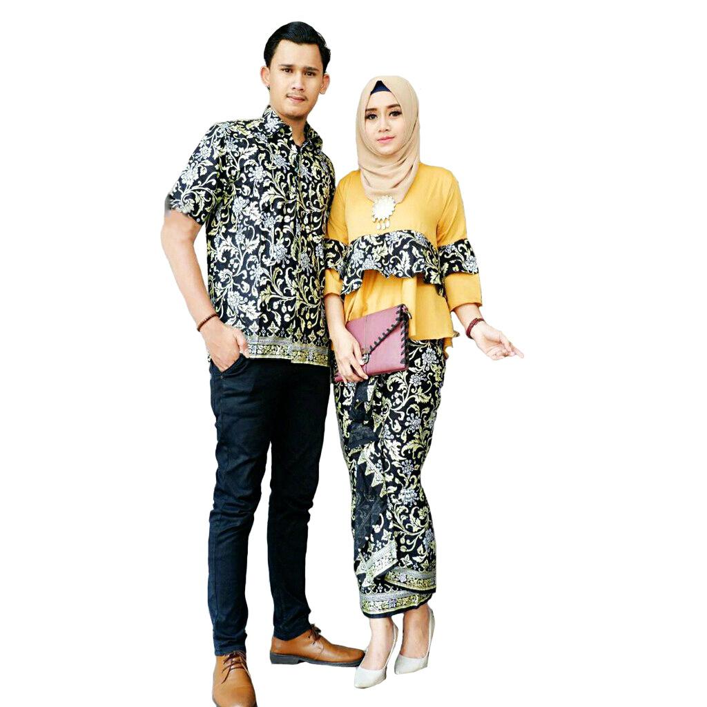 Kumpulan Setelan Baju Batik Gamis   Muslim Modern   Batik Pasangan ... ce69d8024d