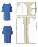 vestido sencillo con media manga