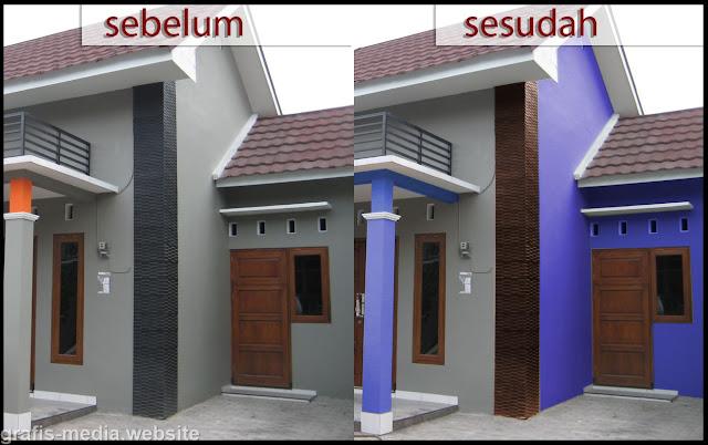 membuat perpaduan warna rumah minimalis di photoshop