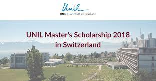 University of LausanneMaster's Scholarship