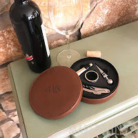 wine tools with leather case