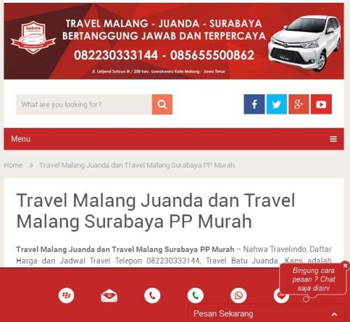 Gambar Beranda Situs Resmi Nahwa Travel