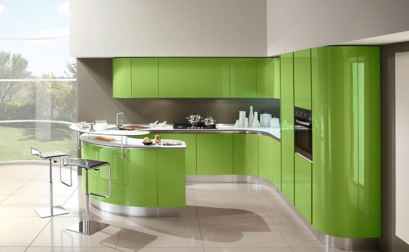 Cocinas de color verde colores en casa for Cocina verde pistacho