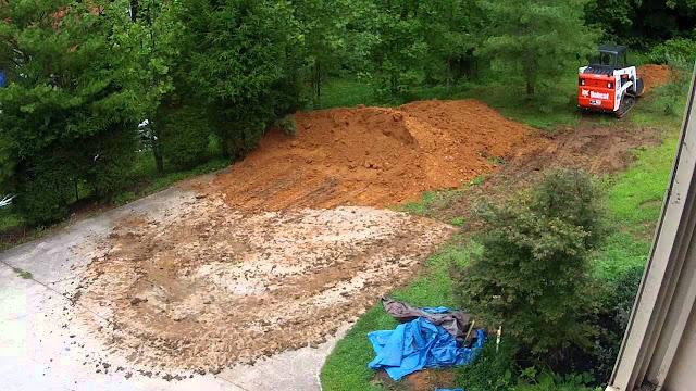 leveling a sloped yard