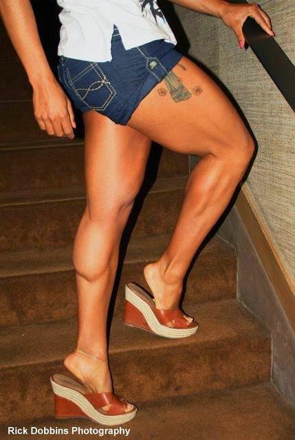 Legs musclar sexy toned