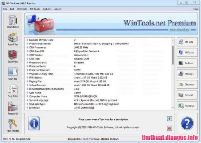 Download WinTools net Premium + Pro 19.0 Full Crack, WinTools net Premium free download, WinTools net Premium full key, phần mềm don dẹp và tăng tốc máy tính