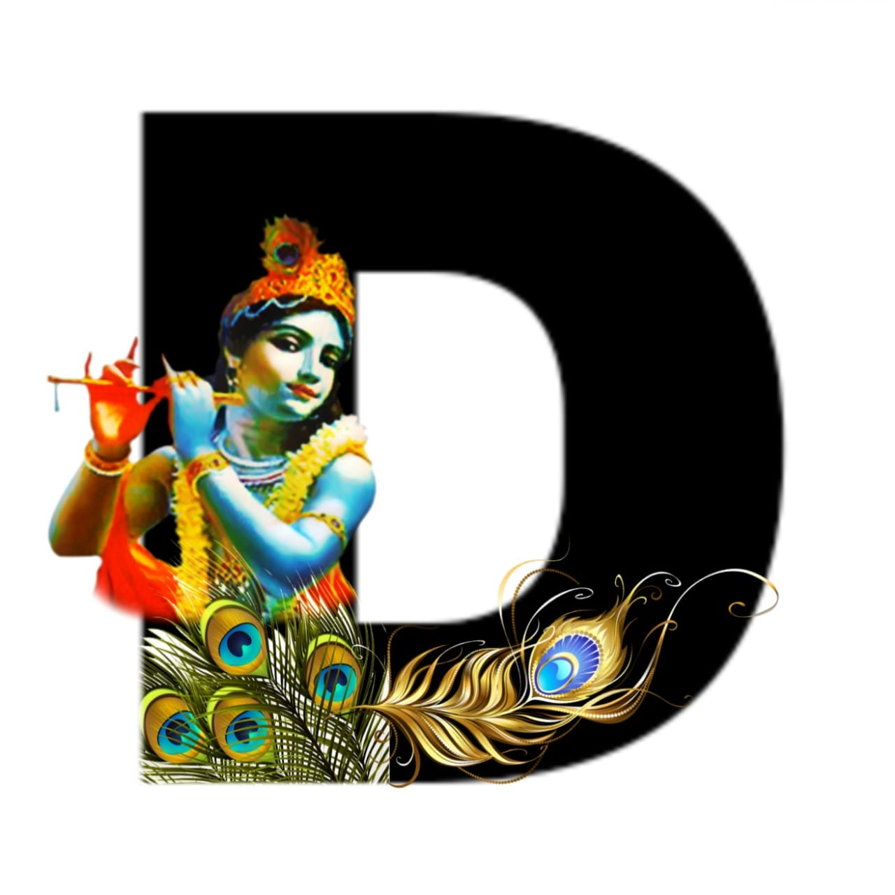 shree krishna alphabet d images